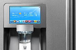 Samsung fridge with LCD screen