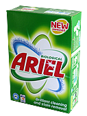Soap powder that contains bleach for white items for a washing machine