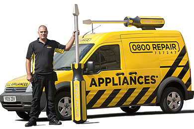 0800 Repair van with screwdriver