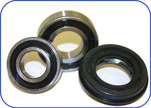 A typical set of bearings that would go into a washing machine or washer dryer, in this case a set for a Hoover washing machine