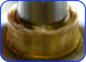 This is the brass collar that the bearing's water seal runs on