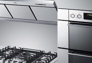 typical Franke oven hob and hood