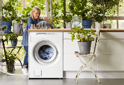 A freestanding washing machine from Asko or ISE