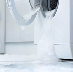 A leaking washing machine isn't always the fault of your washing machine