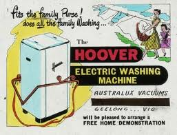 An old advert for a Hoover washing machine