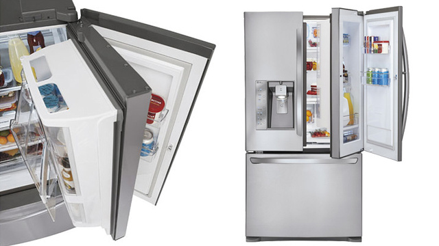 the new lg fridge freezer with a double door one door inside another