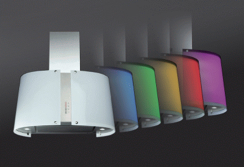 Baumatic's new colour changing cooker hood, the Spectrum