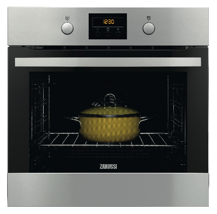 Zanussi QUADRO ZOP37902XK Pyrolitic Oven :: One of the new range of ovens from Zanssi's new QUADRO range of appliances