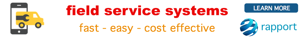 rapport software | world class field service - online booking - invoicing - mobile support - route planning - tracking stock control systems at affordable cost